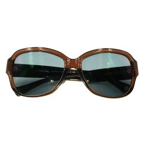 Coach Brown Transparent Oval Sunglasses Frames